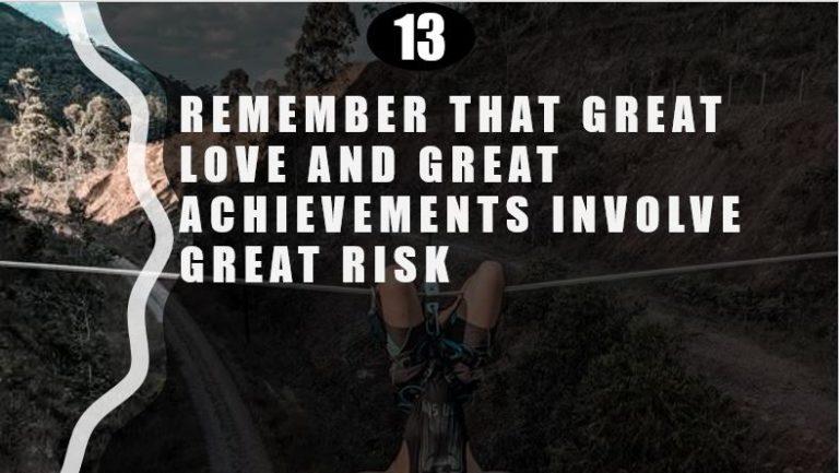 Achievements involve Risk