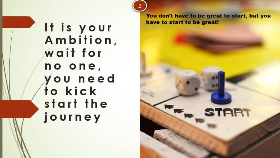 Kick start your ambitions