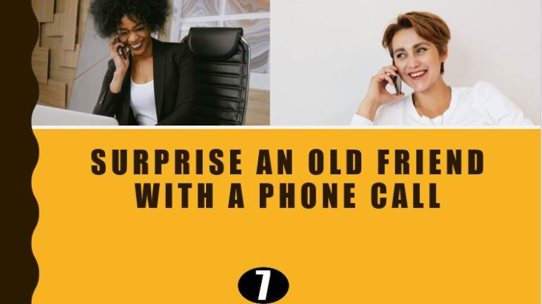 Call a old Friend - Surprise