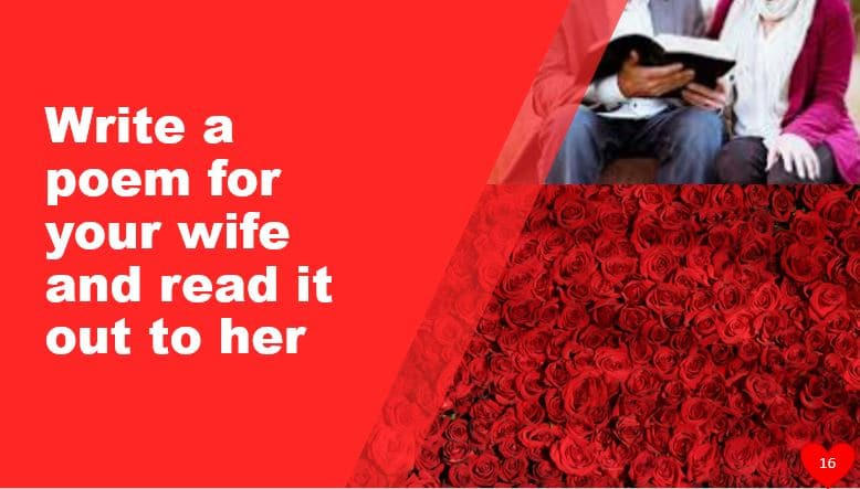 Write a poem for your wife and read it out to her