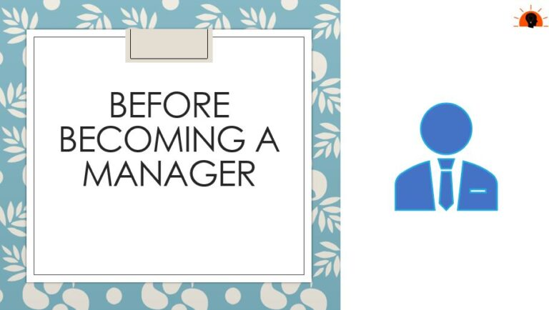 Before Becoming a Manager